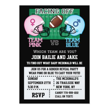 Football Gender Reveal Party Baby Shower Card