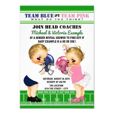 Football Gender Reveal Shower Invitations
