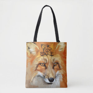 For Fox Sake Image Tote Bag