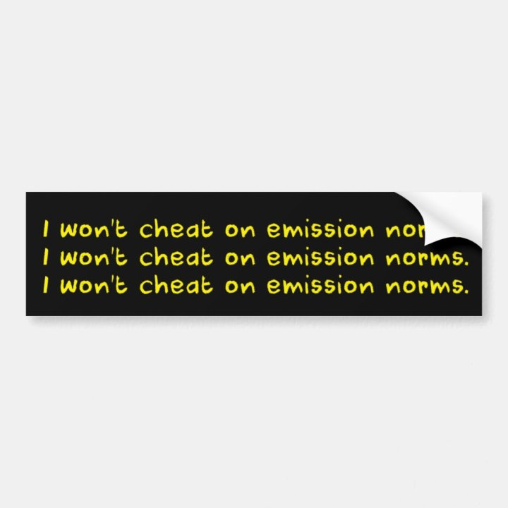 For Regulation-Cheating Diesel VWs - Yellow/Black Bumper Sticker