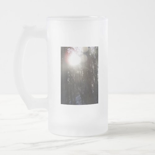 Forest Sun Rays in the Snow #50 mug