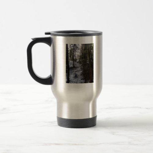 Forest Sun Rays in the Snow #53 mug