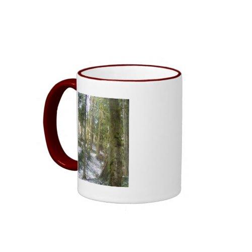 Forest Sun Rays in the Snow #54 mug
