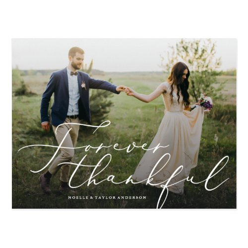 Forever Thankful Thank You Postcard