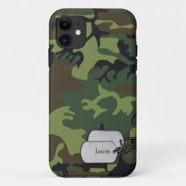 Forrest Green and Brown Military  Camouflage iPhone 11 Case
