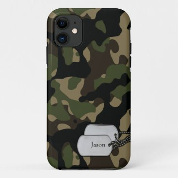 Forrest Trees and Foliage Military Camouflage iPhone 11 Case