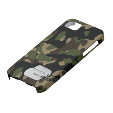 Forrest Trees and Foliage Military Camouflage iPhone SE/5/5s Case