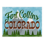 Fort Collins Colorado Snowy Mountains Postcard