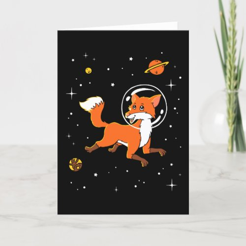 Fox Animals In Space Card