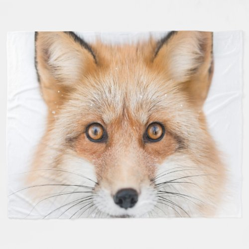 FOX FACE FLEECE BLANKET