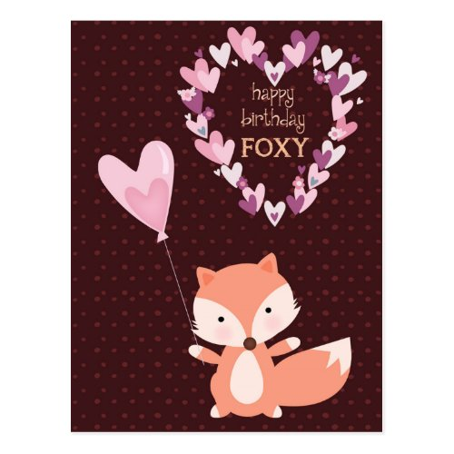 Fox Happy Birthday Foxy Postcard