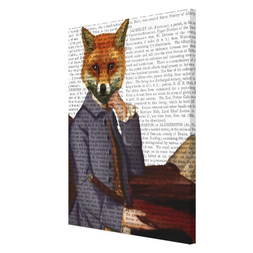 Fox With Flute Canvas Print