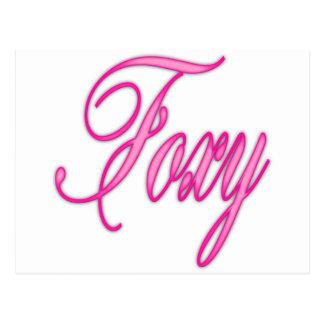 Foxy Pink Airbrush Postcard