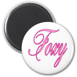 Foxy Pink Airbrush Refrigerator Magnets