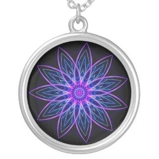 Fractal Flower Purple - Necklace necklace