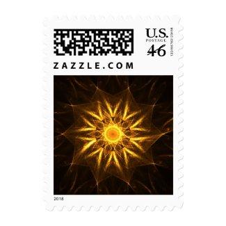 Fractal mandala postage stamp