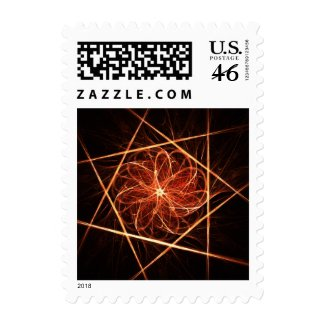 Fractal ornament postage stamp