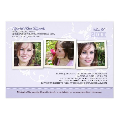 Framed Memories Graduation Custom Invitations