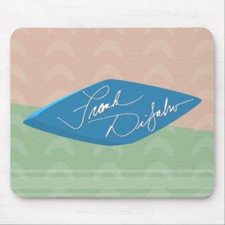Frank DiSalvo - Blue Logo Ctr Mousepad