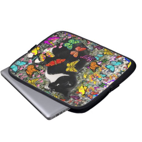 Freckles in Butterflies - Tux Kitty Cat Computer Sleeve