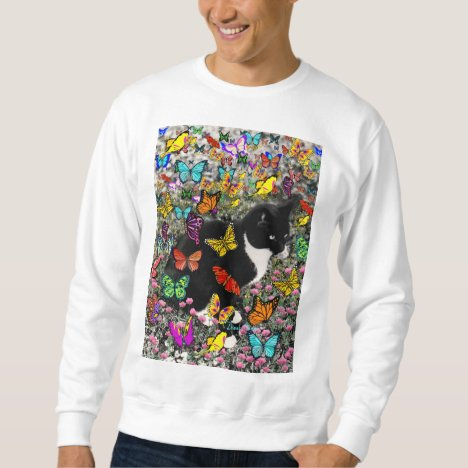 Freckles in Butterflies - Tuxedo Kitty Sweatshirt