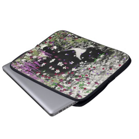 Freckles in Flowers I - Tux Kitty Cat Laptop Sleeve