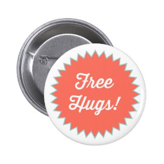 Free Hugs! Button Pin