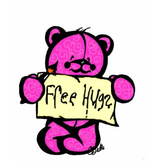 Free Hugs Girly T shirt