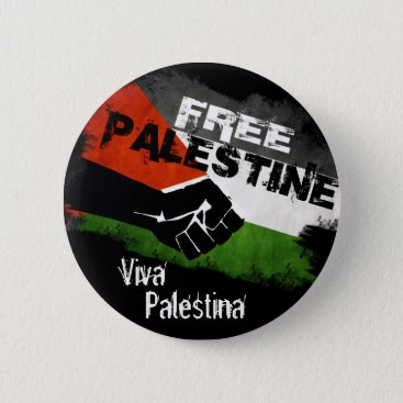 Free Palestine - Viva Palestina Button