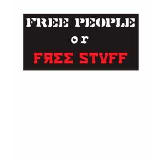 Free People or Free Stuff Stencil Tees