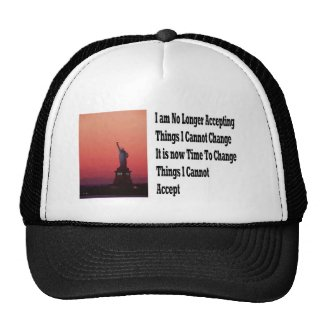 Freedom and liberty trucker hat
