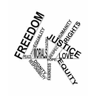 Freedom Equality Justice edun LIVE Tee shirt