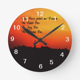 Freedom Round Wall Clocks