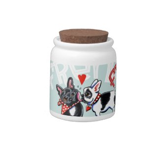 French Bulldog Kiss Candy Jar