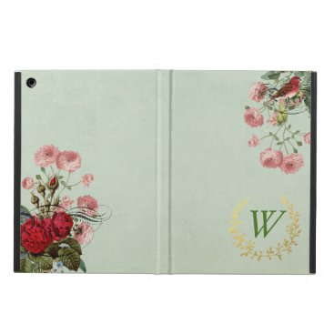 French Floral iPad Air Case with Monogram