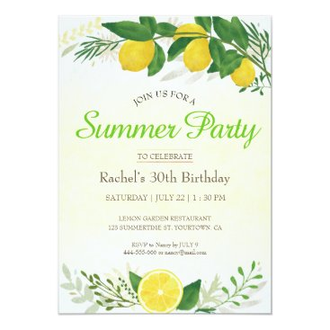 Fresh Lemon Birthday Card