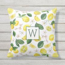 lemon outdoor pillows cushions zazzle