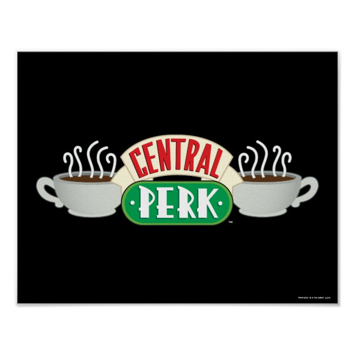friends central perk logo poster zazzle com