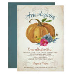 Friendsgiving Invitation - Thanksgiving Pumpkin
