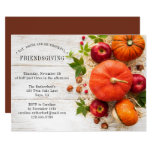 Friendsgiving Rustic Pumpkins | Thanksgiving Invitation