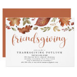 Friendsgiving Thankful Leaves Invitation