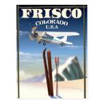 Frisco Colorado USA travel poster Postcard