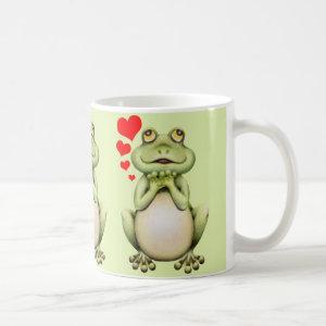 Frog Love Drawing Classic White Coffee Mug