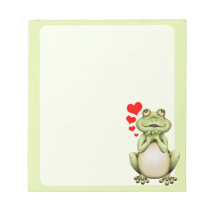 Frog Love Drawing Memo Pads