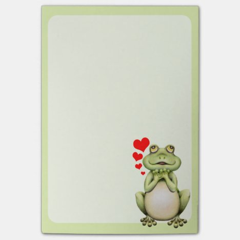 Frog Love Drawing Post-it Notes