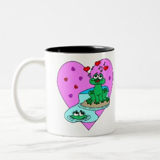 Frogs In Love Mugs