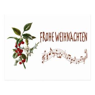Frohe Weihnachten Postcard