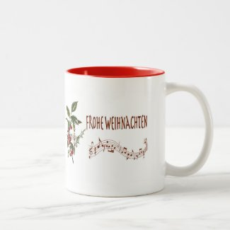 Frohe Weihnachten Two-Tone Coffee Mug