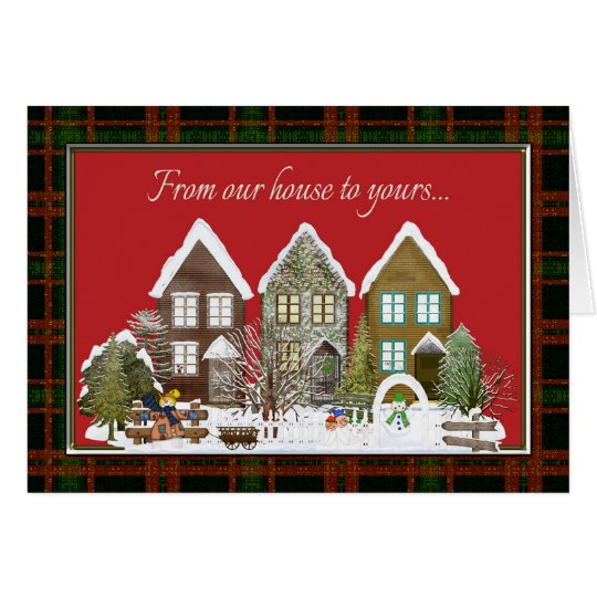 From Our House To Yours Christmas Greeting Card Zazzle