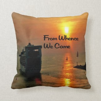 From Whence We came Throw Pillow